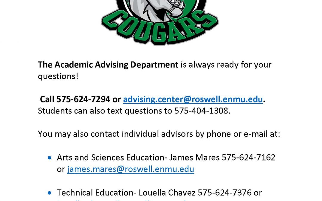 Academic Advisors Information