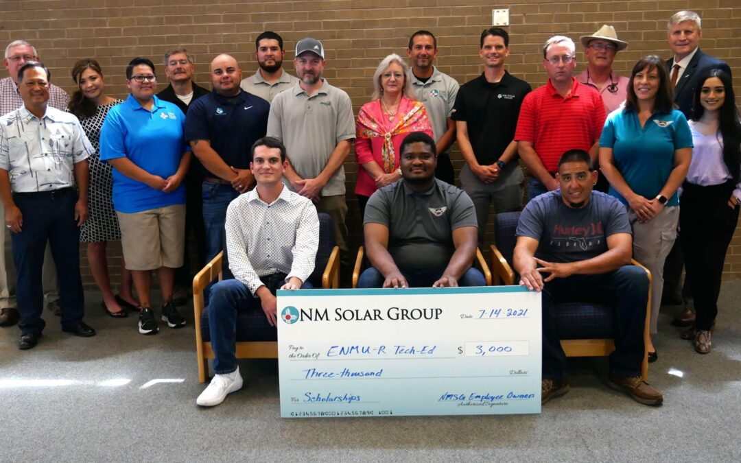 NM Solar Group Awards Scholarships to ENMU-Roswell Students