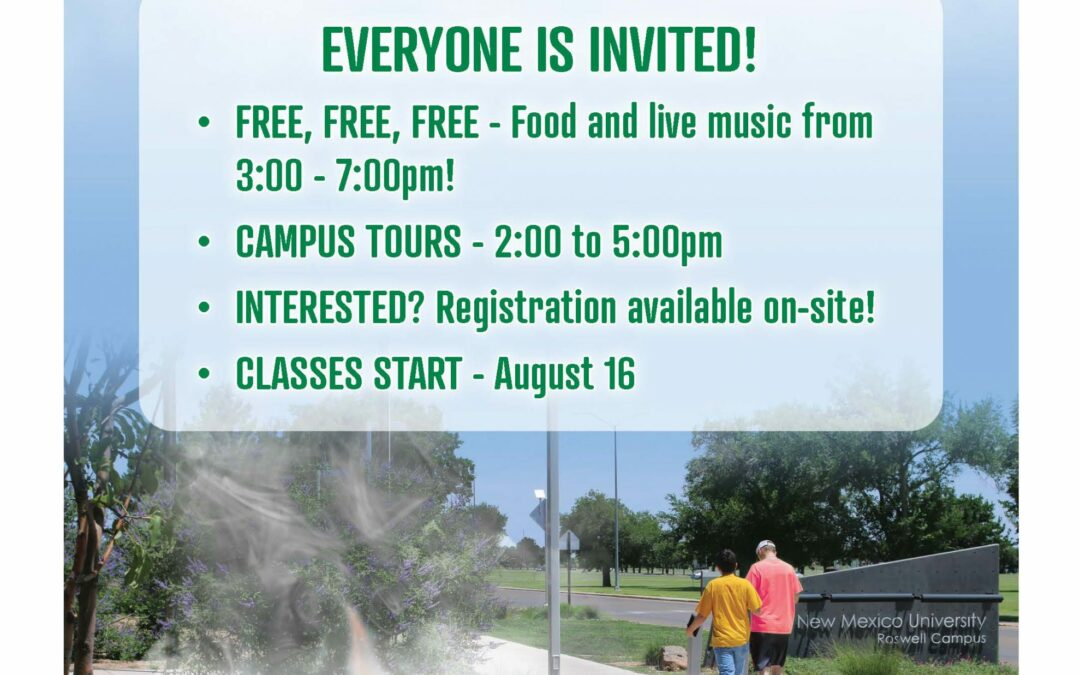 ENMU-Roswell to Host Welcome Back Student Event